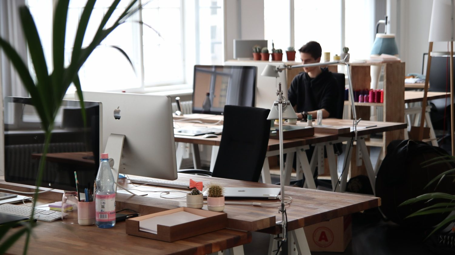 5. Divide your desk into zones that could help you Declutter your office lots