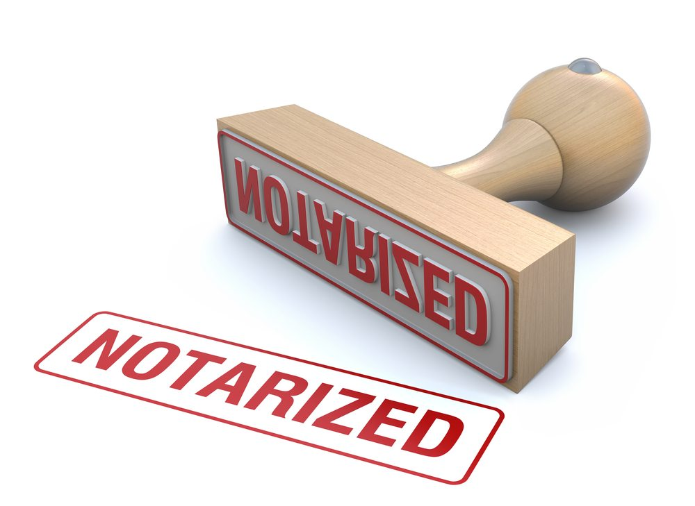 What is the notarization of the Office lease contract?